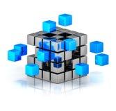 企业配合互联网通信概念 向量例证