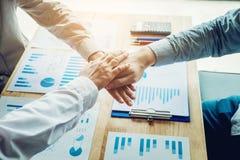 企业配合加入的手团队精神 免版税库存图片