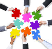 企业配合合作连接概念 免版税库存图片