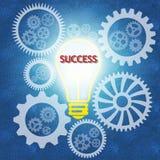 企业配合和成功 免版税库存照片