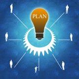 企业配合和成功 免版税库存图片