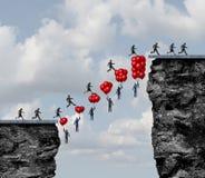 企业配合成功 向量例证