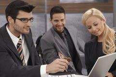 企业配合特写镜头照片  免版税库存图片