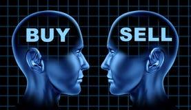 企业采购金融市场出售股票 向量例证