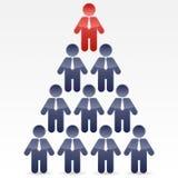 企业金字塔 库存照片