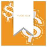 企业金钱美元传染媒介集合橙色背景 向量例证