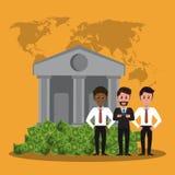 企业银行家配合 皇族释放例证
