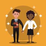 企业银行家配合 向量例证