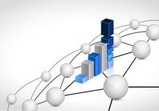 企业链接球形网络连接概念 库存图片