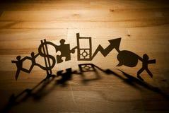 企业链纸张 免版税图库摄影