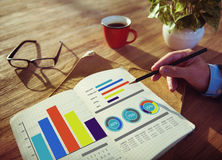 企业销售方针运作概念的设计想法 免版税库存照片