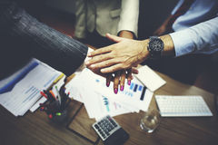 企业队一起配合合作概念 图库摄影