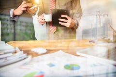企业队会议和同意 免版税库存照片