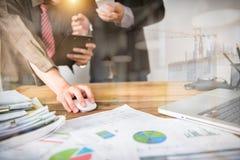 企业队会议和同意 免版税库存图片