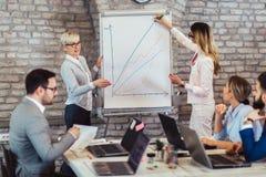 企业队会议运作的介绍 图库摄影