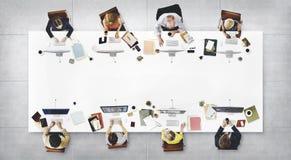 企业队会议连接数字技术概念 免版税图库摄影