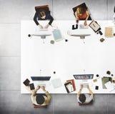 企业队会议连接数字技术概念 免版税库存图片
