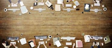 企业队会议连接数字技术概念 库存照片