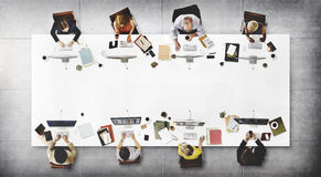企业队会议连接数字技术概念 图库摄影