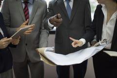 企业队公司组织运作的概念 库存照片