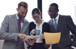 企业队公司组织运作的概念 免版税库存照片