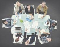 企业队分析概念的讨论会议 免版税库存图片