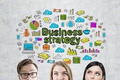 企业队和战略,混凝土墙 库存图片