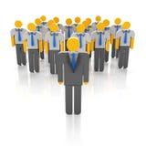 企业队和领导 免版税库存照片