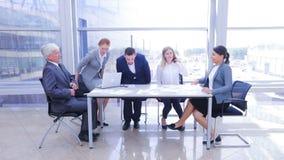 企业队在办公室 影视素材
