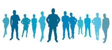企业队小组作为剪影 库存例证
