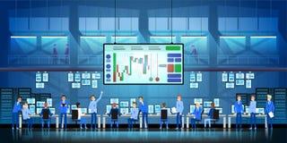 企业队工作成功概念 网上贸易 换在平的样式设计的证券交易所传染媒介的发行家 向量例证