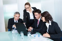 企业队开一次会议 库存图片