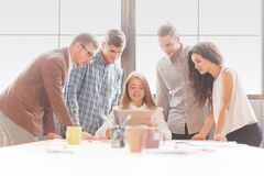 企业队开会议在办公室 小组工作 免版税库存图片