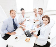 企业队开会议在办公室 图库摄影