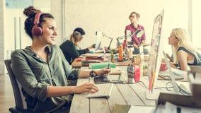 企业队激发灵感工作区概念 库存照片