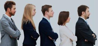 企业队的外形在一条个别线路的 免版税图库摄影