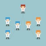 企业队设计 免版税库存图片