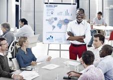 企业队赢利统计会议概念 免版税库存图片