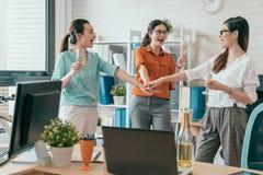 企业队重叠的手一起 免版税库存图片