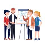 企业队项目战略制定计划会议 库存例证