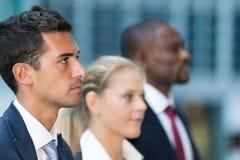 企业队:小组年轻商人 库存图片