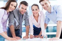 年轻企业队 免版税库存照片