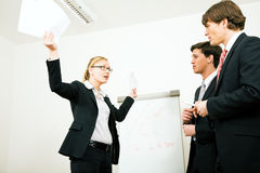 企业防御妇女 免版税库存照片