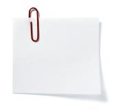 企业附注办公室纸张提示 免版税库存照片
