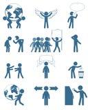 企业集合的人们 免版税库存图片