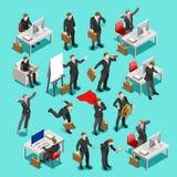 企业集合3D传染媒介等量人民 免版税图库摄影