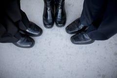 企业鞋类 库存照片