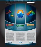 企业页集合模板万维网 免版税库存图片