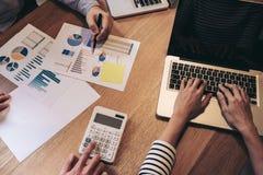 企业顾问分析财政与新的起始的财务 免版税库存照片