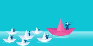 企业领导概念 库存例证